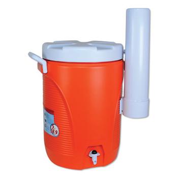 Newell Rubbermaid Water Coolers, 5 gal, Cup Holder, Orange (1 EA/EA)