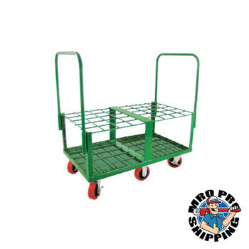 Anthony Heavy-Duty Frame Cylinder Carts, Holds 40 Cylinders, 6 in Rubber/Plastic Wheels (1 EA/EA)