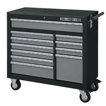 Apex Tool Group XL Series Drawer Roller Cabinets, 42 in x 19 in x 39 in, 11 Drawers,Black/Silver (1 EA/EA)