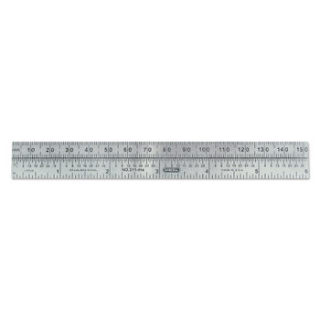 General Tools Economy Precision Stainless Steel Rules, 6 in X 3/4 in, Stainless Steel, Inch (12 BOX/EA)