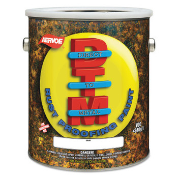 Aervoe Industries Any-Way RustProof Enamels, 1 Gallon Can, Safety Yellow, High-Gloss (2 GA/EA)