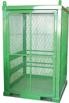 Saf-T-Cart Storage Series Cylinder Cage, Locking Door, (20) Hi-Pressure Cylinders (1 EA/EA)