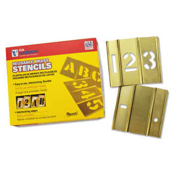 C.H. Hanson 15 Piece Single Number Sets, Brass, 3 in (1 ST/EA)