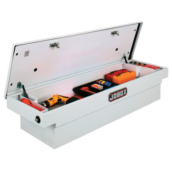 "Apex Tool Group Steel Single Lid Crossover Truck Boxes, 71"" x 20 7/8"" x 17 1/4"", White (1 EA/EA)"
