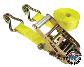 Keeper Ratchet Tie-Down Straps, Double-J Hooks, 1 3/4 in W, 15 ft L, 5,000 lb Capacity (1 EA)
