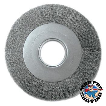 Anderson Brush Med. Crimped Wire Wheel-DA Series, 7 D x 1 1/8 W, .0118 Carbon Steel, 6,000 rpm (1 EA/EA)