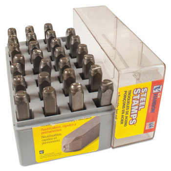 C.H. Hanson Heavy Duty Steel Hand Stamp Sets, 1/2 in, A thru Z (1 SET/EA)