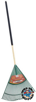 The AMES Companies, Inc. Lawn Rake, 24 in Plastic Blade, 48 in White Ash Handle (1 EA/EA)