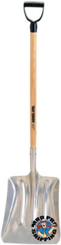 The AMES Companies, Inc. Aluminum Scoops, 11 1/2 in X 13 1/4 in  Blade, 38 in White Ash D-Handle (1 EA/EA)