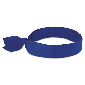Ergodyne Chill-Its 6700 Evaporative Cooling Bandanas, 8 in X 13 in, Solid Blue (1 EA/EA)