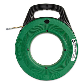 "Greenlee Flex-O-Twist Flexible Steel Fish Tape with 12"" Plastic Reel, 3/16"" x 50 ft (1 EA/EA)"