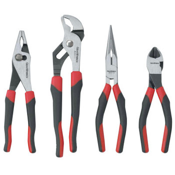 """Apex Tool Group 4 Pc Mixed Pliers Set, 9 1/2"""" Tng & Groove, 7"""" Dgnl; 8"""" Long Nose; 8"""" Slip Joint (1 ST/EA)"""