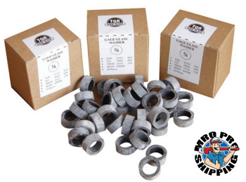 Gage Glass Washers, 5/8 in, Rubber (24 BOX/EA)