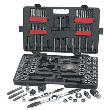 Apex Tool Group 114 Piece Combination Ratcheting Tap and Die Drive Tool Set, Inch/Metric, Hex (1 ST/EA)