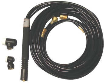 WeldCraft Water Cooled Flexible Tig Torch Packages, Flexible Head, 12.5 ft Vinyl Cable (1 EA/EA)