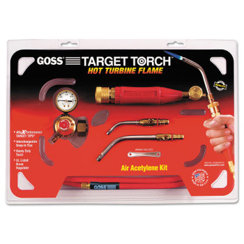 Goss Target Torch Air-Acetylene Outfits, 3/8 in, 1/2 in, B Cyl Reg Fitting (1 EA/EA)