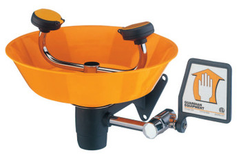 Guardian Wall Mounted Eye/Face Washes, 11 1/2 in, Safety Orange, 2 Head (1 EA/EA)