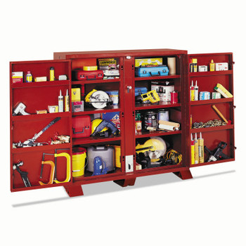 Apex Tool Group Extra Heavy-Duty Cabinets, 60 1/8W x 32 1/4D x 60 3/4H, 4 Doors (1 EA/EA)