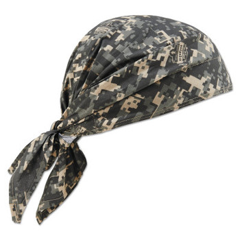Ergodyne Chill-Its 6710CT Evaporative Cooling Triangle Hats w/ Cooling Towel, Camo (6 CA/EA)