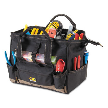 CLC Custom Leather Craft Soft Side Tool Bags, 16 Compartments, 8 in X 9 in (1 EA/EA)