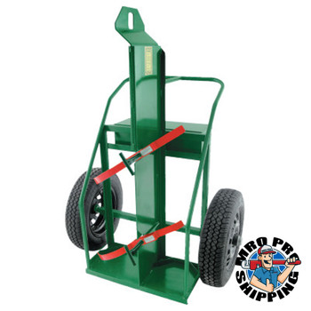 """Anthony Large Heavy-Duty Frame Dual-Cylinder Cart, For 9.5""""-15"""" Cylinders, 20"""" Road Tire (1 EA/EA)"""