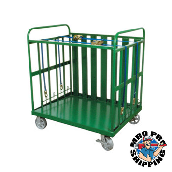 Anthony Heavy-Duty Cylinder Buggies, Holds 80 Cylinders, 6 in Steel Wheels (1 EA/EA)