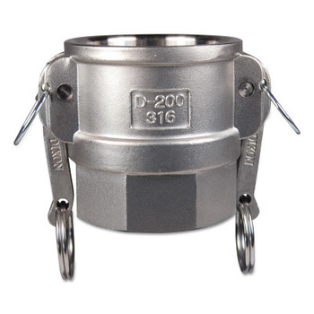 Dixon Valve Global Type D Couplers, 1 1/2 in (NPT), Female, 334 Stainless Steel (1 EA/CA)