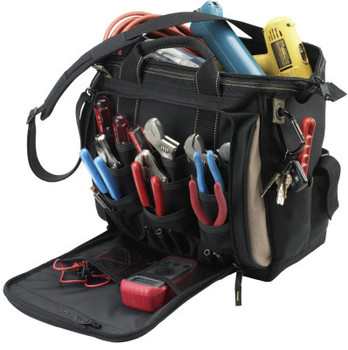 CLC Custom Leather Craft Soft Side Tool Bags, 15 Compartments, 9 in X 9 in (1 EA/TB)