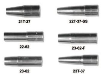 "Esab Welding 23 Series Nozzles, Heavy Duty Self-Insulated,1/8"" Tip Recess,3/4"", For No. 3 Gun (1 EA/SP)"