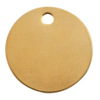 C.H. Hanson Brass Tags, 18 gauge, 1 1/2 in Diameter, 3/16 in Hole, Round (100 EA/SP)