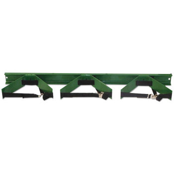 Saf-T-Cart Wall Brackets, Cylinder Bracket, Steel, 42 in x 6 1/2 in x 3 in, Green (1 EA/PK)