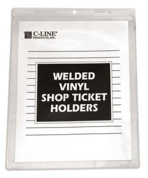 C-Line Products, Inc. SHOP TICKET HOLDERS WELDED VINYL 8 X 11 (1 BX/CA)