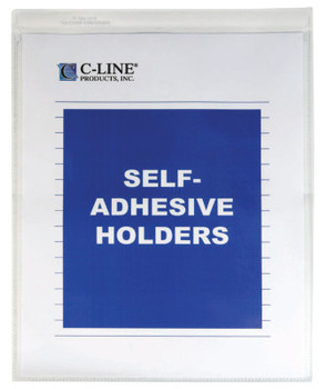 C-Line Products, Inc. SELF-ADH VINYL SHOP TICKET HOLDERS 8X11 (1 BX/CA)