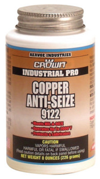 Aervoe Industries Anti-Seize Compounds, 8 oz Brush Top Bottle, Copper (1 EA/EA)