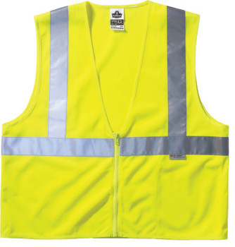 Ergodyne GloWear 8220Z Class 2 Standard Vests, L/XL, Orange (6 EA/EA)