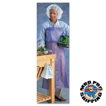Ansell CPP Vinyl Aprons, 6 mil, 33 in X 54 in, Blue (12 DZ/EA)