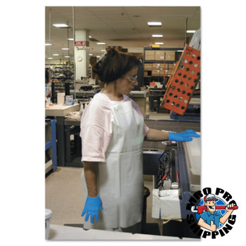 Ansell CPP Vinyl Aprons, 18 mil, 35 in X 45 in, White (12 DZ/EA)