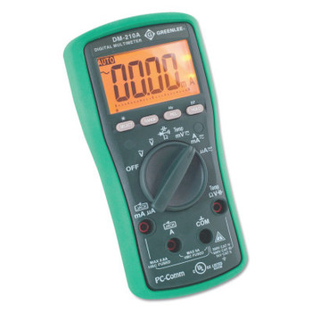 Greenlee DM-210A Digital Multimeter with Auto and Manual Ranging (1 EA/EA)