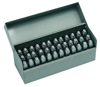 C.H. Hanson Premier Steel Hand Stamp Sets, 1/16 in, 0 thru 8; A thru Z (1 SET/EA)