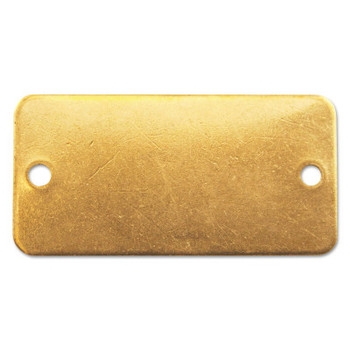C.H. Hanson Brass Tags, 18 gauge, 3 in x 1 in, 1/8 in Holes, Rounded Rectangle (100 BOX/EA)