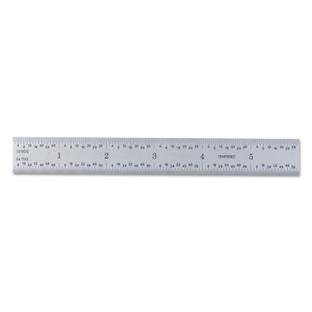 General Tools Ultratest Steel Rules, 3/4 in x 6 in, Steel (1 EA/OZ)
