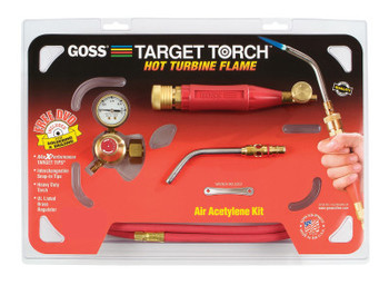 Goss Target Torch Air-Acetylene Outfits, 5/16 in, B Cyl Reg Fitting (1 EA/LB)