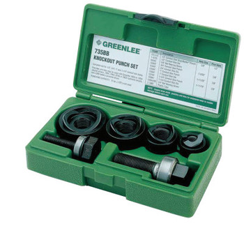 Greenlee Manual Round Standard Knockout Punch Kits, 1/2 - 1 1/4 in (1 ST/EA)