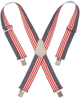 "CLC Custom Leather Craft RED WHITE & BLUE 2"" WIDEWORK SUSPENDERS (1 EA/LB)"
