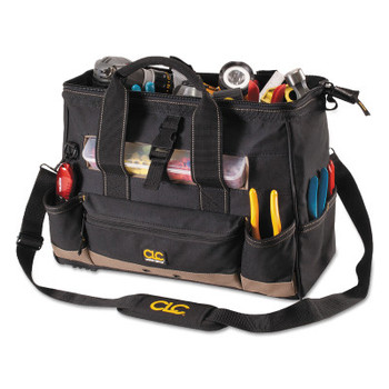 CLC Custom Leather Craft Soft Side Tool Bags, 23 Compartments, 8 in X 11 in (1 EA/CT)
