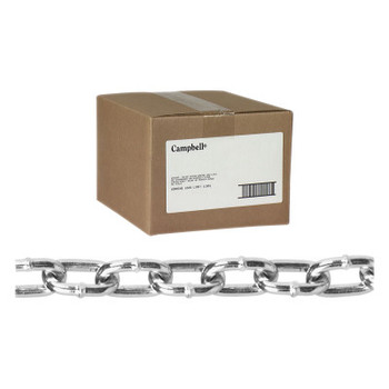 Apex Tool Group Twist Link Machine Chains, Size 1/0, 440 lb Limit, Blu-Krome (100 CTN/BX)