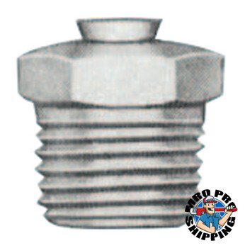 Alemite Relief Fittings, Straight, 1/2 in, Male/Male, 1/8 in (PTF), 25 psi (1 EA/TB)