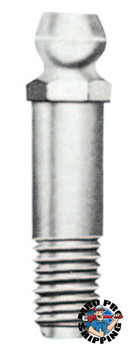 Alemite Hydraulic Fittings, Straight, 1 1/8 in, Male/Male, 1/4 in (SAE) (1 EA/SP)