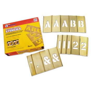 C.H. Hanson Brass Stencil Letter & Number Sets, Brass, 1 in (1 SET/PK)