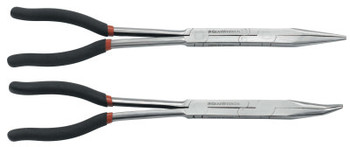 Apex Tool Group 2 Piece Double-X Pliers Set, 13 1/2 in Straight; 13 1/4 in 45 (1 EA/EA)